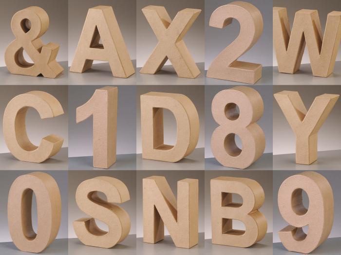 Буквы из картона схемы шаблоны