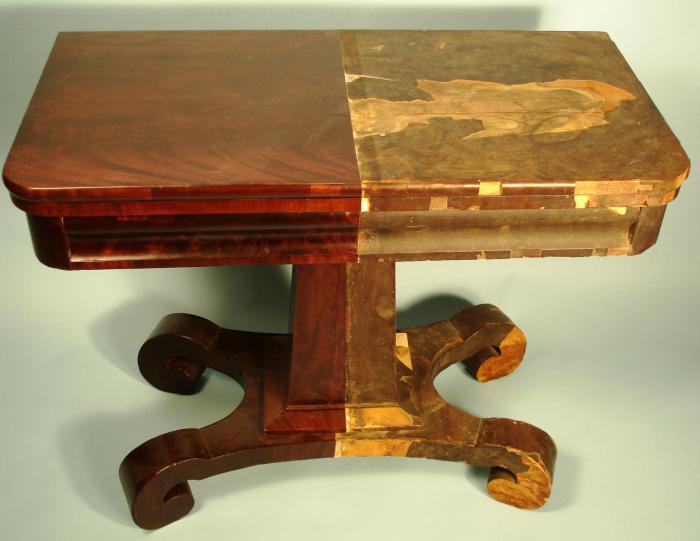 реставрация старой деревянной мебели