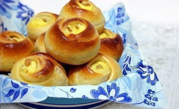 вкусные булочки с творогом рецепт с фото