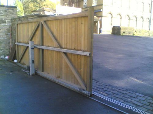 Фото откатных ворот своими руками