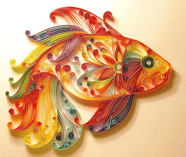 Золотая рыбка открытка своими руками
