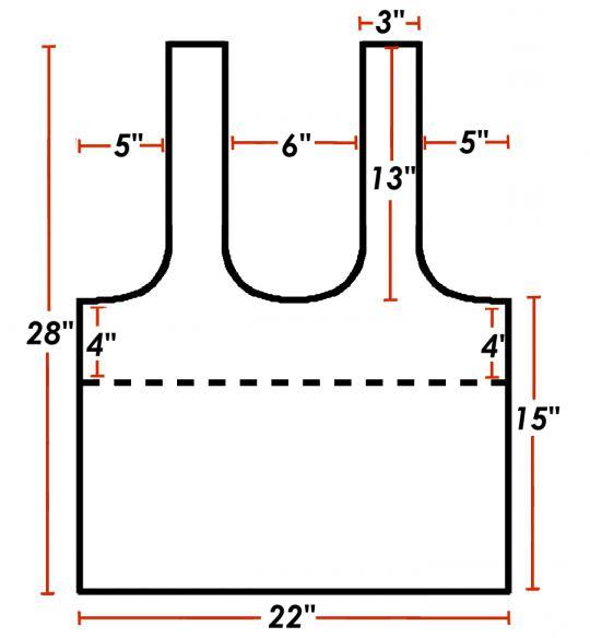 выкройка хозяйственной сумки