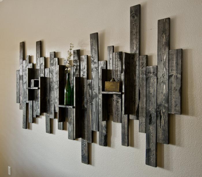 Декорирование стен и подручными средствами