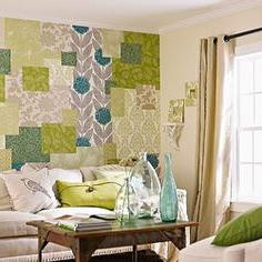 decorating the walls with a cloth with your own hands
