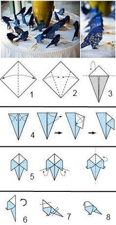 Как сделать птичку из бумаги так чтобы летала