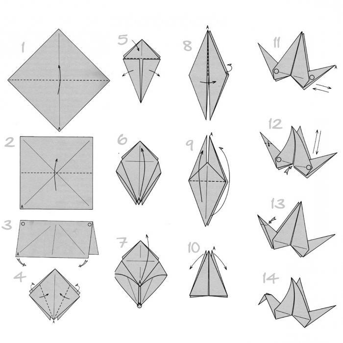 Оригами птичка 54