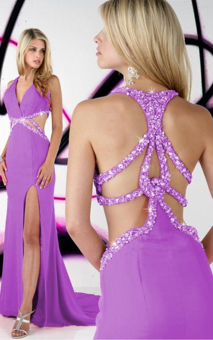 lilac long dress