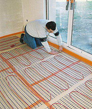 heated floor with their own hands