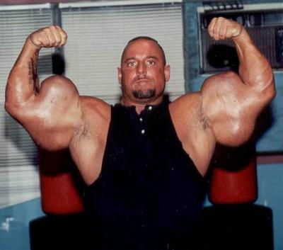 the biggest biceps in the world is 84 cm