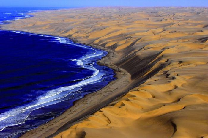 The reasons for the formation of the Namib Desert