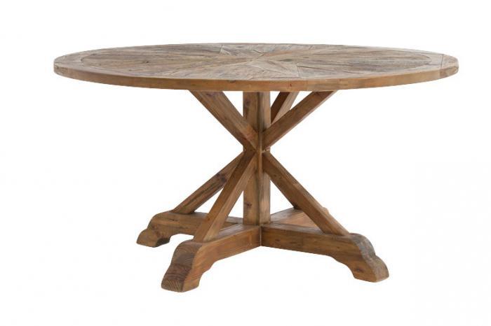 Как сделать стол круглый из дерева 587