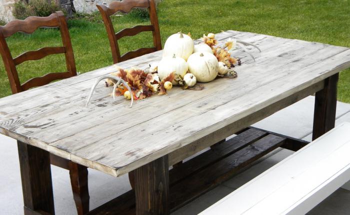 Декоративный деревянный стол своими руками фото 815