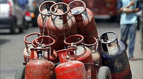 gas cylinder to give