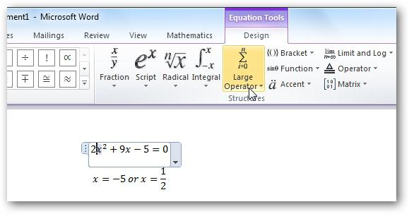 how to write a formula with a fraction in the Word