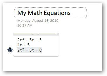 how to write math formulas in Word