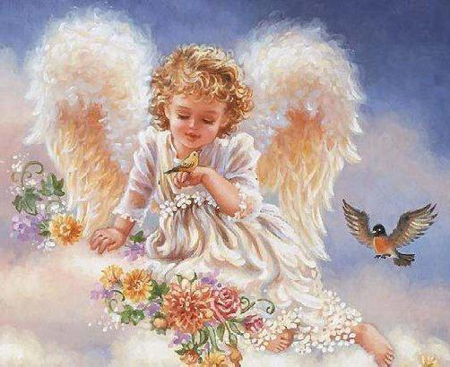 Вышивка ангела фото