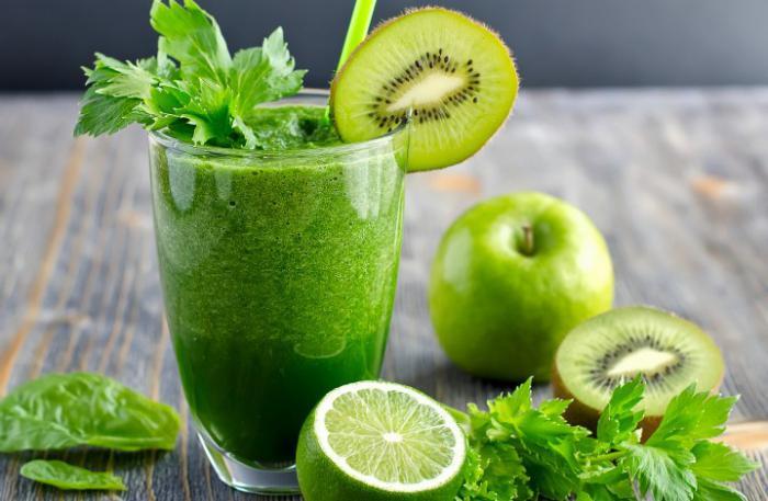 Коктейль из зелени для похудения