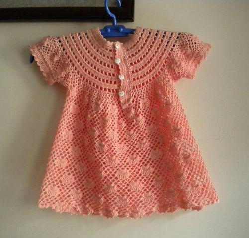 кокетка крючком для детского платья