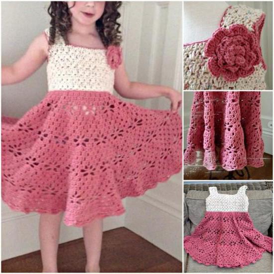 детские платья крючком со схемами