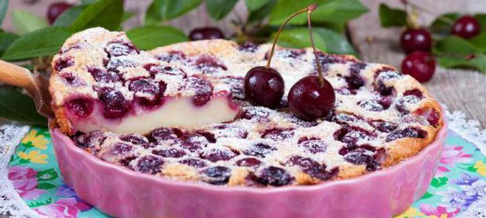 cherry clafuti calorie