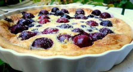 cherry and cocoa clafouts