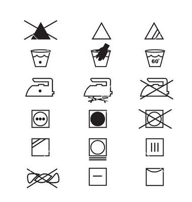 Обозначение всех знаков одежды 193