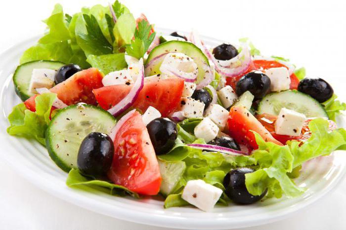 light summer salads on the festive table