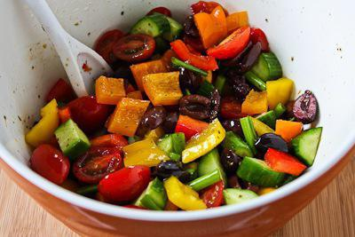 summer salads on the holiday table
