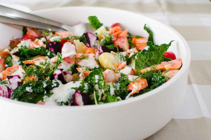 summer salads and snacks on the festive table