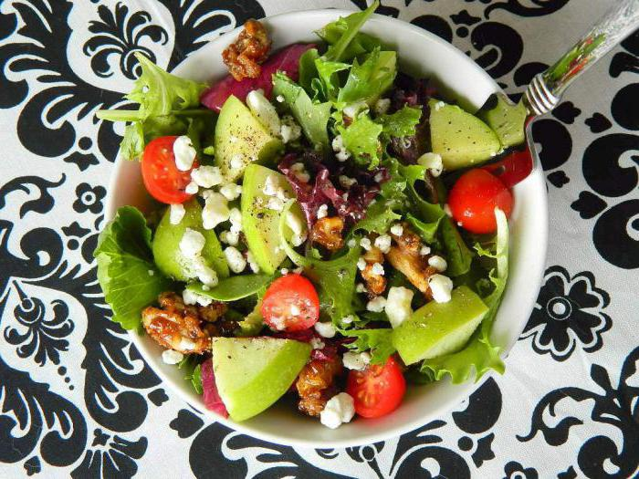 summer vegetable salads on the holiday table