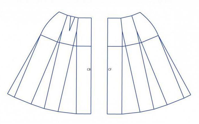 Как сшить расклешенную двухшовную юбку 10