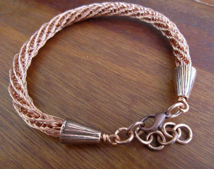 плетение из проволоки браслеты