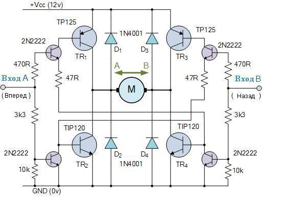 pnp транзистор подключение
