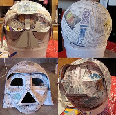 как сделать маску дарта вейдера