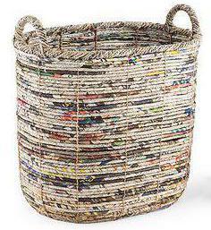 Как сделать корзину для белья своими руками из газеты 99