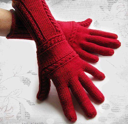 вязаные детские перчатки своими руками