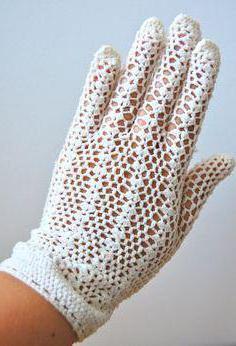 длинные вязаные перчатки без пальцев