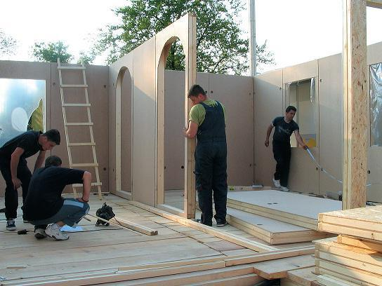 construction of shield country houses of economy class