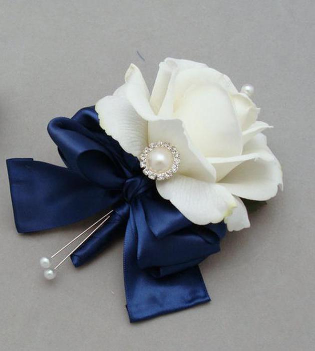 Бутоньерка синяя своими руками фото 596