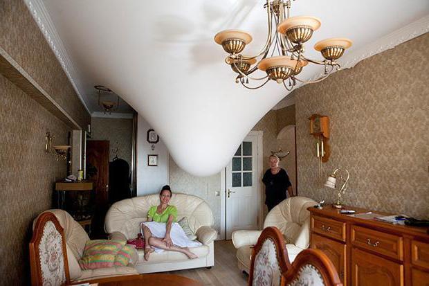 stretch ceiling repair cut