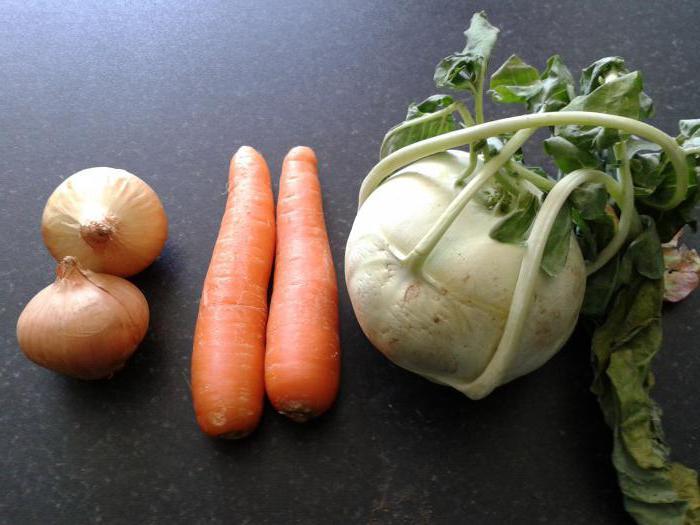 салат из кольраби и крабовыми палочками рецепт