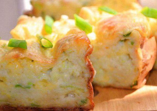 суфле из кабачков с соусом