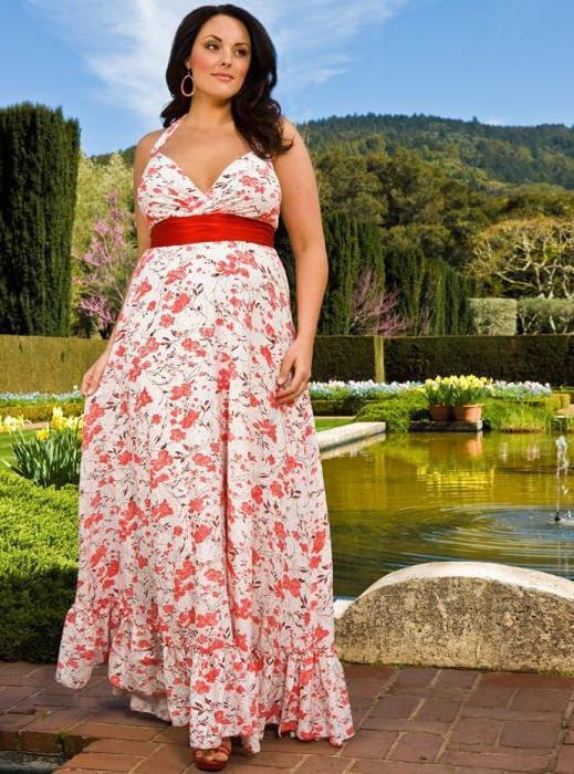 Pattern summer dress for obese women
