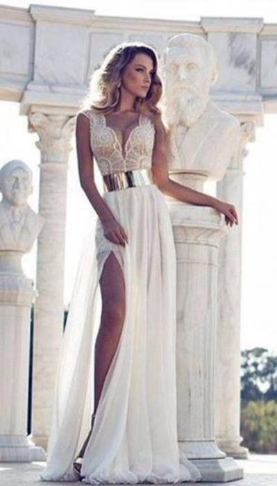 фото платья белые в пол