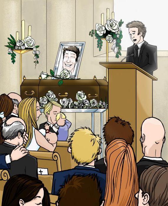 что говорить на похоронах знакомого