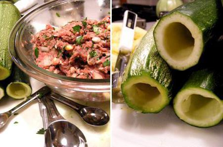 zucchini stewed with meat and potatoes