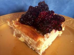 cottage cheese and berries pie