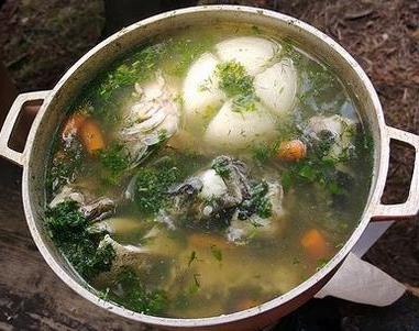 River fish soup recipe with photos