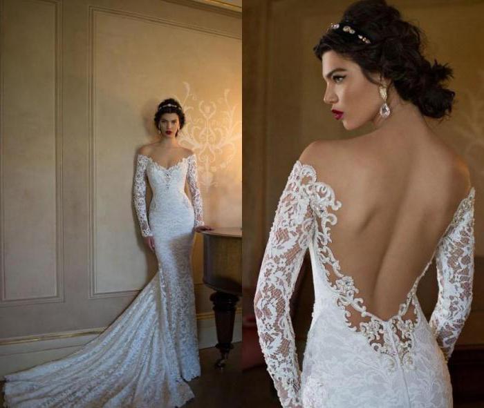 Красивые свадебные платья с открытой спиной