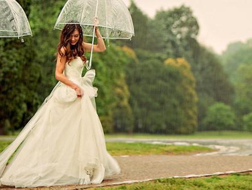 Примета если на свадьбу идёт дождь